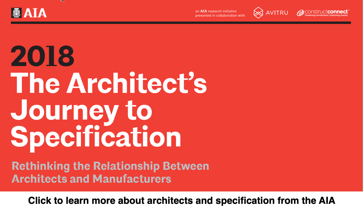 AIA architects specification report 2018 image