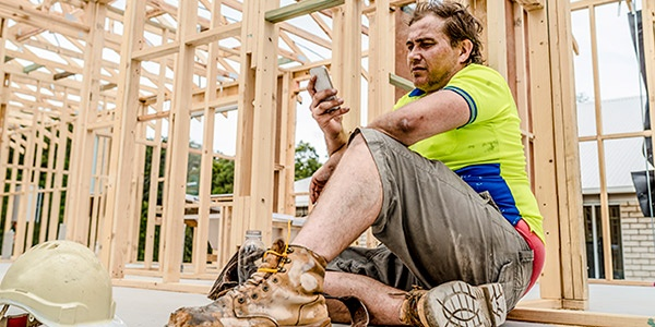 Contractor engaging with social media