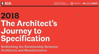 2018 AIA Architects Journey to Specification report