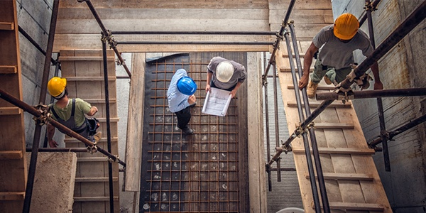 Reviewing codes on a construction site