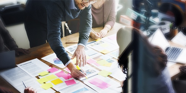 Integrating sales and marketing strategy meeting