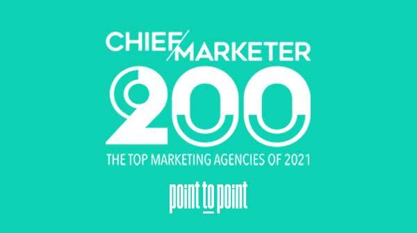 Point To Point Recognized As Chief Marketer Top Agency